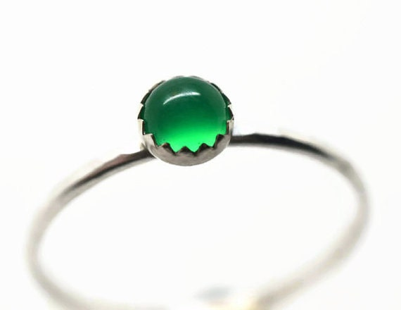 simple emerald ring green gemstone engagement ring by