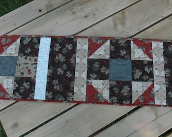 Handmade Fall Colors Table Runner