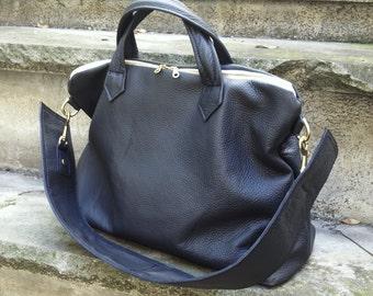 Medium Leather East West Bag  - Laurel Dasso