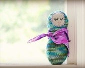 Waldorf Style  Soft Knit Doll with Play Silk Silkie