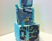Stacking blocks - Woodland friends Sensory Jingle Crinkle Baby Toy Set
