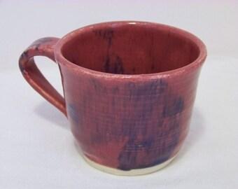 Rose Pink with Blue Accents Coffee Mug-Tea Cup-Hot Cocoa Mug