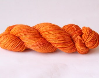 Mandarin Aran Weight Bluefaced Leicester 100 Percent Super Soft British Bluefaced Leicester Lustre Wool/ Wool/ Heavy Worsted