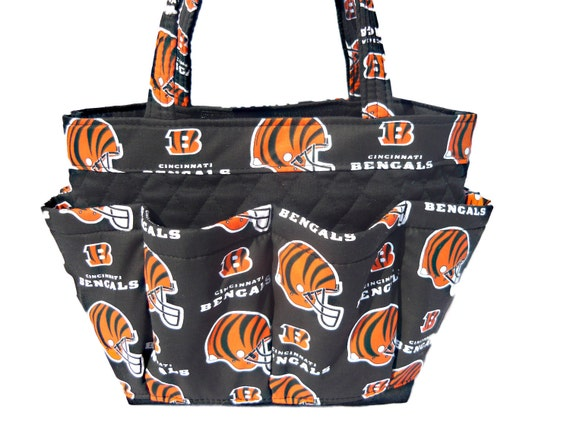 Cincinnati Bengals Bingo Bag // Craft Organizer // Makeup Organizer // Caddy // Teacher Tote // Nurse Tote