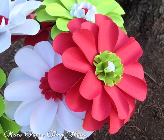 Handmade Paper Flowers - X-Large - Daisy - Made to Order - A Grinch Christmas - Set of 6