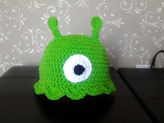 Brain Slug Pattern Crochet Green Alien Brain Slug