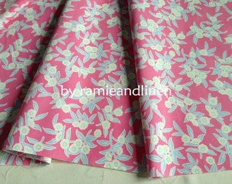 """Japanese cotton fabric,  floral print fine cotton fabric, half yard by 44"""" wide"""