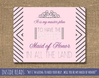 How to Ask a Maid of Honor | Will You Be My Maid of Honor Funny | Bridesmaid Invite | Will You Be My Matron of Honor | Be My Maid Card