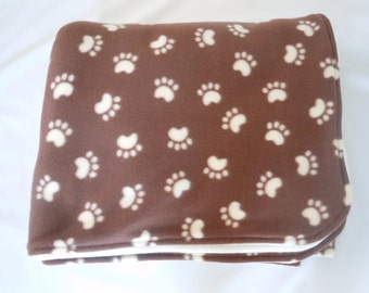 Paw Print Fleece Blanket - Extra Large