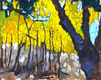 Autumn Leaves, Temecula Landscape Painting
