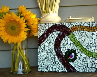 Almost my brother's wedding gift - recycled glass art mosaic