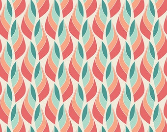 Winged Fabric, Metamorphosis Coral by Bonnie Christine for Art Gallery Fabrics, 1 yard- SALE