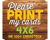 4x6 Printed Cards or Invitations -- Any Design, Baby Shower Invitations, Birthday Invitations
