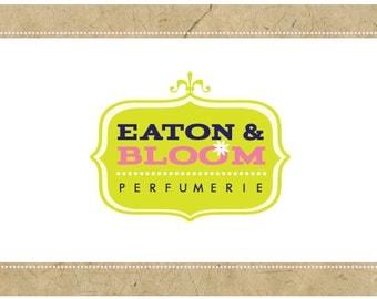 Custom Logo - PreDesigned Logo - PreMade Logo - Vector Logo - OOAK Logo - EATON & BLOOM Logo Design - Crest Logo - Vintage Logo - Retro Logo