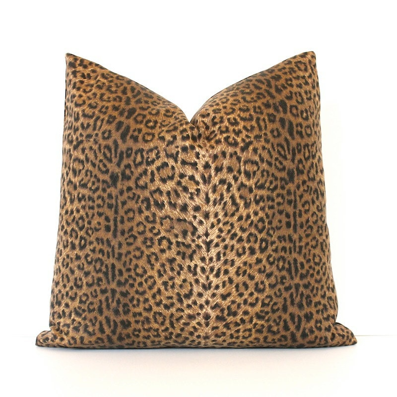 Cheetah Print Decorative Designer Pillow Cover 18 Accent