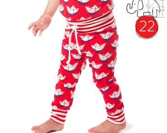 Baby leggings pattern pdf, photo tutorial, sizes Preemie-6T  Drawstring waist -Pattern 22