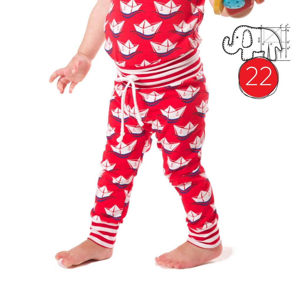 Baby leggings pattern pdf // photo tutorial // sizes