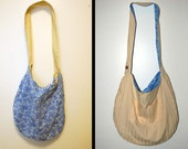 Reversible Hobo Tote Large Cotton Bag Purse Cross Body