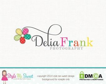 Daisy Logo Flower Logo Photography Logo Graphic Design Premade Logo Design Florist Logo Jewelry Design Logo Bespoke Logo Design Watermark