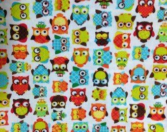 Mini Owls Fabric - Cotton BTY