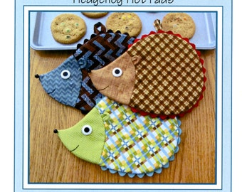 Hedge Fun-Hedgehog Hot Pads Potholder Pattern by Susie C. Shore Designs ST1421