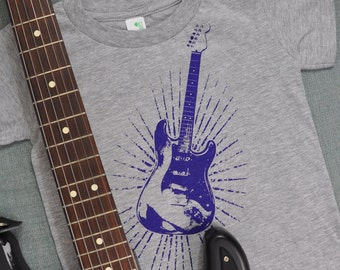 Stratburst Guitar Organic Cotton Shirt (4T)