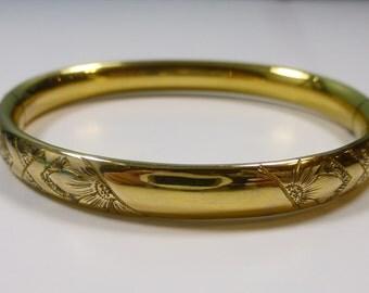 Vintage 1/20 12K Gold Filled Childs Bracelet - Signed HFB