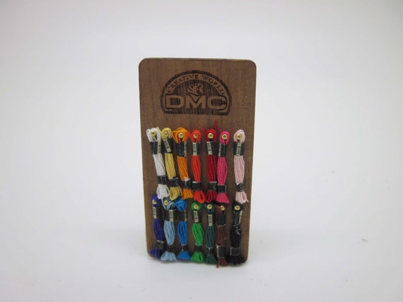 Miniature sewing haberdashery thread display