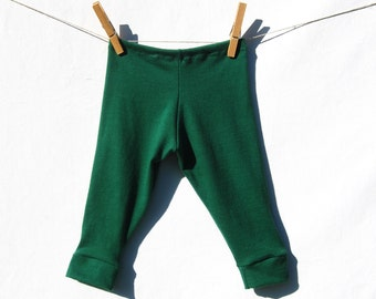 Organic Baby Leggings - Baby Pants - Emerald Green - Organic Cotton - Eco Friendly Baby Tights