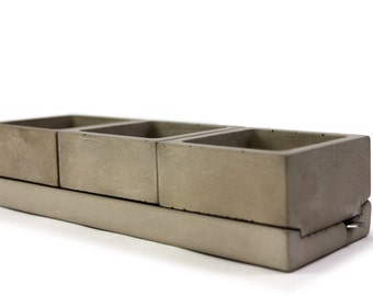 NEX GEN Spice Caddy. Concrete Salt + Spice Container