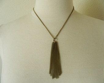 Bronze Chain Tassel Necklace