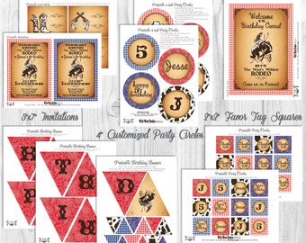 Western Party Decorations, Printable Party By Cutie Putti Paperie
