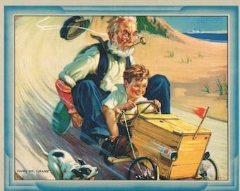 Hang on Gramps Calendar Art Print