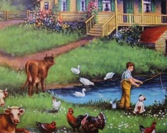Summers Afternoon Calendar Art Print