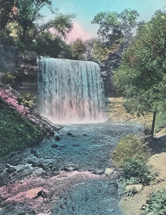 Curtain Falls Hand Tinted Photo Print