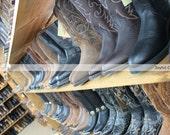 Photography Print... 11x14 Western Cowboy Boot Shop