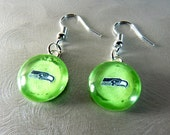 Seattle Seahawks Lime Green Earrings