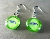 Seattle Seahawks Lime Green Earrings