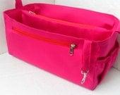 Diaper Bag organizer insert -Extra Large Purse organizer for Louis Vuitton Neverful GM in Fuchsia