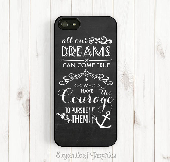 Dream Quote iPhone 7 6 Case Walt Disney Quote on Chalkboard