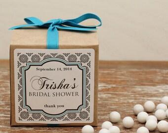 12 - Personalized Bridal Shower Favor Boxes - West Label Design - Wedding Favors, Personalized Favor Box, Wedding  Favor Labels