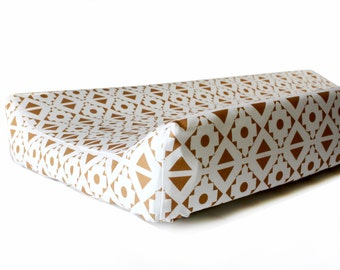 Changing pad cover GOLD AZTEC contoured - change pad cover - change pad gold -  TRIBAL change pad - change pad boy - diaper change cover