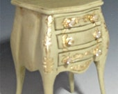 Dollhouse Night Stand  in faux finish Old Versailles