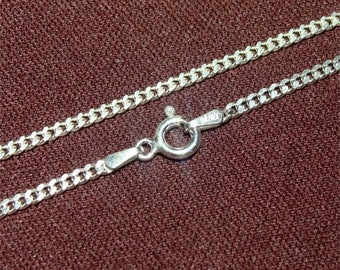 """18"""" Medium Heavy Weight 060 Curb STERLING Neck Chain"""