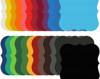 Bracket Labels Tags Frames Digital Clip Art, Commercial Use - Instant Download - DP261