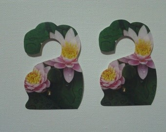 Earring Card Display Water Lily Set of 10