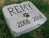 DOG MEMORIAL Stone - Personalized Garden Stone - Garden Decor - Carved Rock - Beloved Companion - Pet Memorial