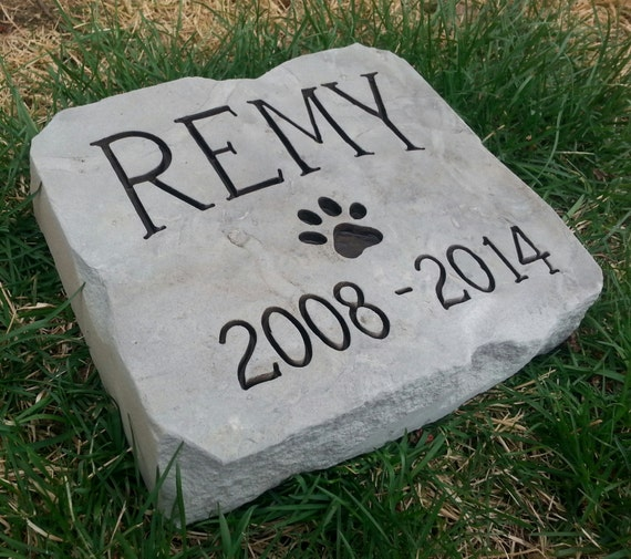 Dog Memorial Stone Personalized Garden Stone By Carvedstone