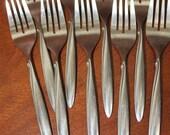 DELMAR or TAPER by Oneida Deluxe Oneidacraft vintage stainless flatware silverware BIN 21
