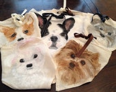 Doggie Scarfs for all puppies in two different sizes. A must have when we go out for a walk.